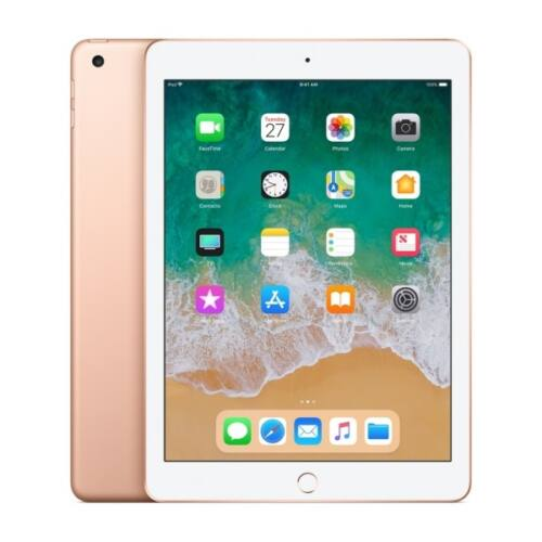 APPLE 9.7-inch iPad 6, Cellular, 128GB - Gold (2018)